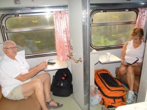 Laatste uren in de trein van Bangkok naar Chiang Mai