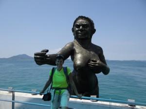 Het boegbeeld van Koh Samet haven