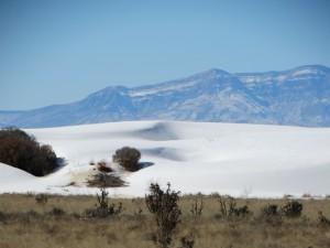 White Sands vanaf de weg