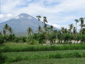 De Gunung Agung, een nog werkende vulkaan