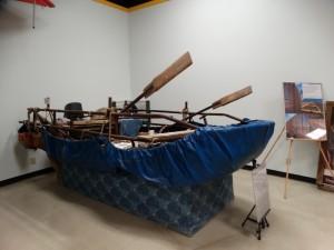 Vlucht boot uit Cuba gemaakt van dekzeilen