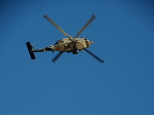 Rond vliegende helicopters bij het ZW-punt van de USA