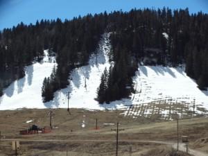 Verlaten ski pistes in Cloudcroft