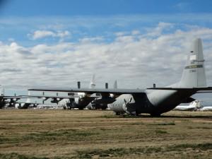 Vliegtuig opslag nabij Tucson