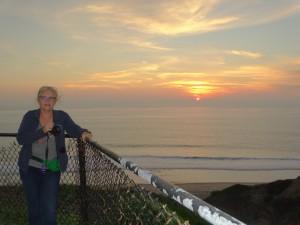 Zonsondergang aan de Pacific Oceaan