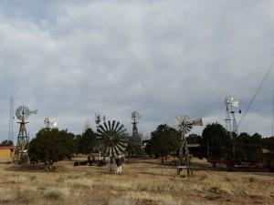 Boortorens en windmolens in PIE-town