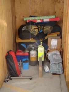 De spullen in de storage