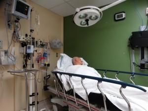 Geveld in het ziekenhui bed