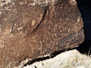 Petroglyphen in Painted Desert