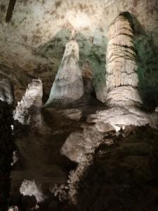 Metershoge kolommen in Carlsbad Caverns