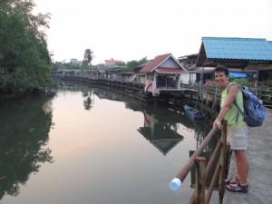 De Klongh in Trat, met een betonnen boardwalk