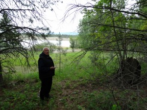 Even een wandeling maken naar het meer bij Rexford