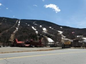 Nog sneeuw op de piste's van de White Mountains