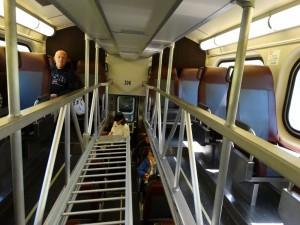 De trein met aparte bovenverdieping