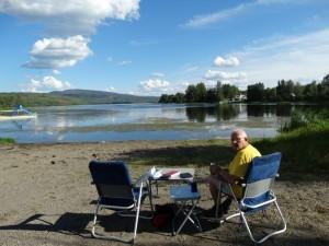 Uitzicht op Burns Lake