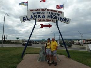 De Alaska Highway begint hier