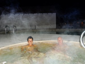 Lekker in de HOT tub