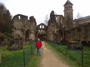 De Ruines van de oude Abdij van ORVAL