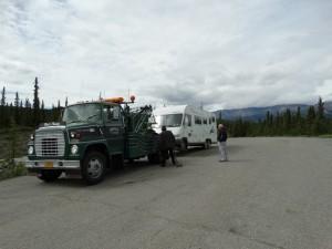 Slepen vanaf Milepost 234 naar Fairbanks