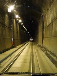 Trein en auto tunnel naar Whittier