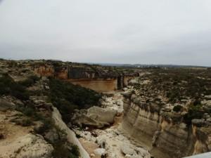 Canyon met zicht op de Pecos river