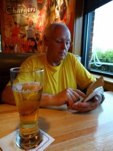 Een medium biertje bij Applebees