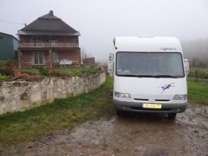 Op de oprit in Grand Cornaux