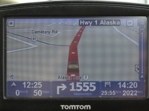 Nog maar 1555 km rechtdoor tot Whitehorse