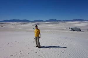 White Sands, net sneeuw