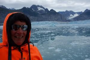 Koud bij de Columbia Glacier