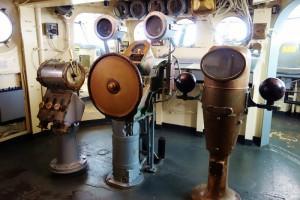 Op de brug van de USS Lezington