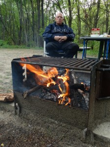 Lekker warm bij het houtvuurtje