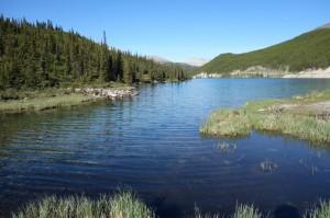 Summit Lake vanuit de camper