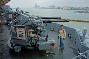 Geschut op de USS Lexington