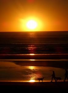 Zonsondergang bij Cape Lookout