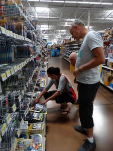 Nog even wat inkopen doen bij Walmart