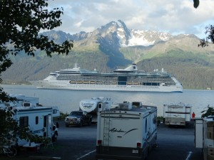 Cruiseschip in Resurrection Bay - Seward