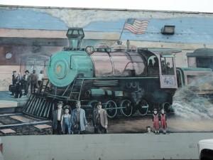 Muurschildering in Fort Bragg