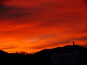 Zonsondergang in Wickieup