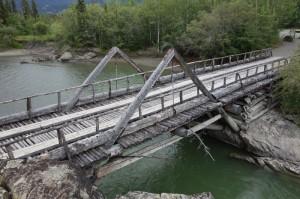 Canyon Creek's historische brug