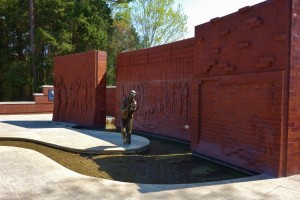 POW Gedenkmuur in Andersonville National Historic Place