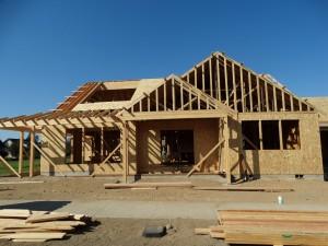 Nieuwbouw huis in Sisters, alles in hout