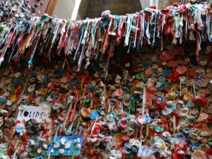 Kauwgom muur in Seattle