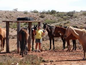 Tita tussen de paarden