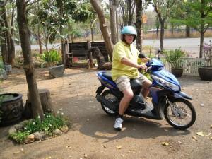 Op de motorbike